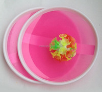 kids plastic sticky suction cup catch ball with paddles