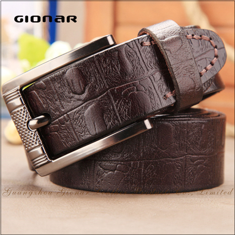New Arrival Crocodile Leather Top Layer Leather Reversible Slide Leather Belt in Sialkot for Men