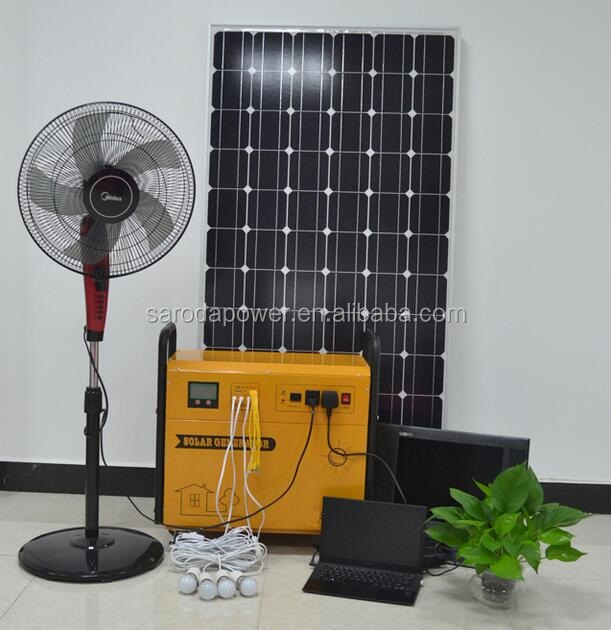 SARODA 1kw portable solar power generator 1000w inverter solar power system for homes