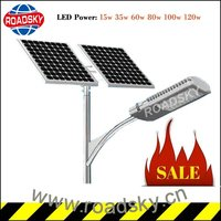 Hot Sale 15W Solar Cell Street Lamp with Pole for Garden