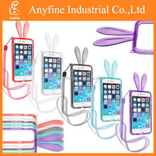 Cute Rabbit Transparent Rubber Gel Soft Protector Bumper Case for iPhone 6