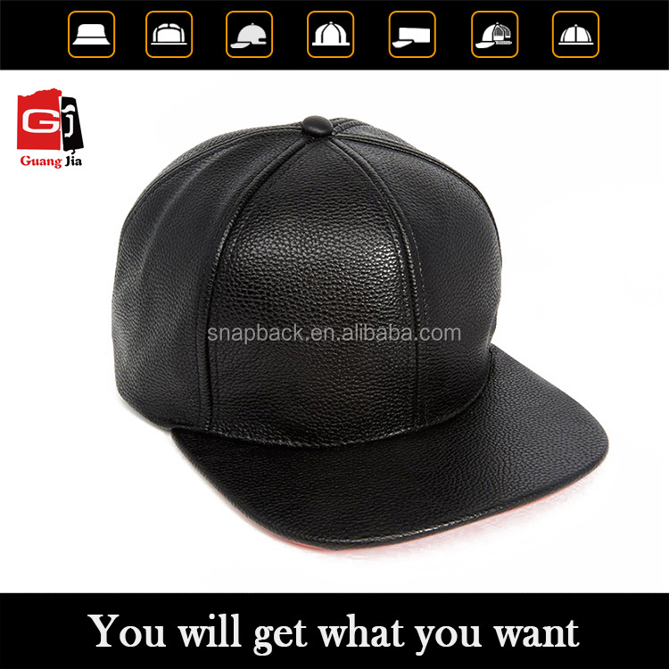 2015 Customize fashion embroidery blank leather snapback manufacturer for men