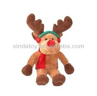 Christmas brown deer with red scarf baby toy