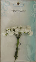 white handmade mulberry paper flowers for craft