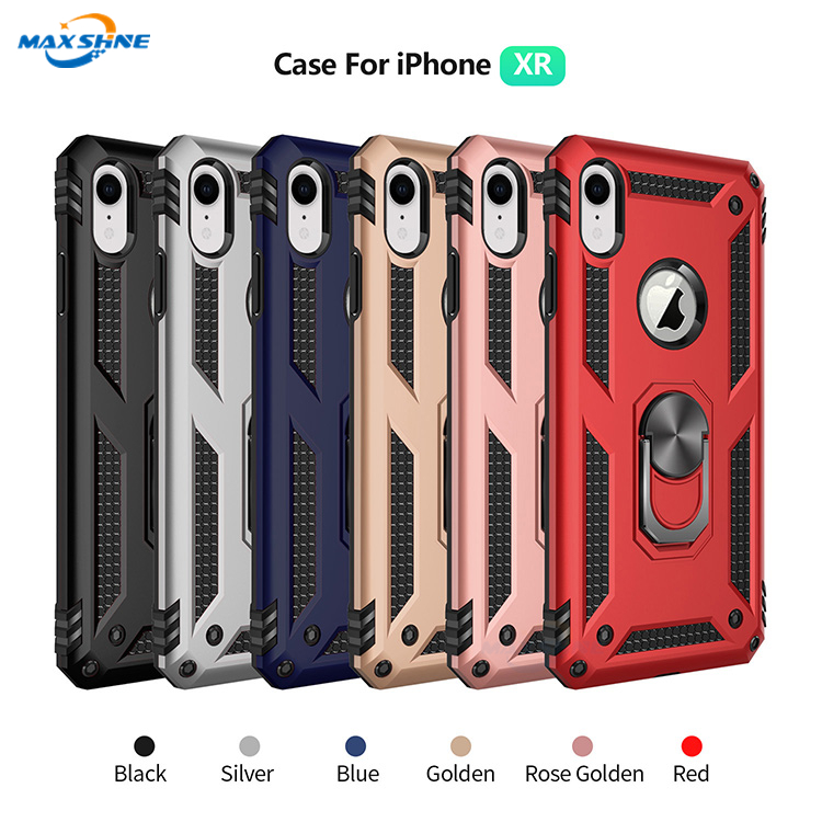 Maxshine Phone Case with Kickstand Magnetic Case for iPhoneXR  , Heavy Duty Case For iPhone XR