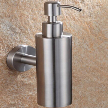 wall mounted stainless steel liquid soap dispenser single pump bottle