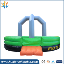 Exciting inflatable wipe out, inflatable wrecking ball sport game for fun