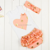 High quality cotton girls outfits ,kids outfits , sex outfits