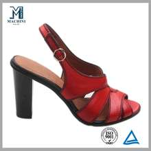 New model high heel red sandals wholesale lady shoe 2013