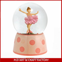 New Style Girl design Snow globe for Christmas Holiday