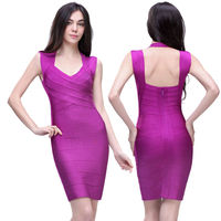hot sexy open image fashion purple evening 2013 manufacture dress