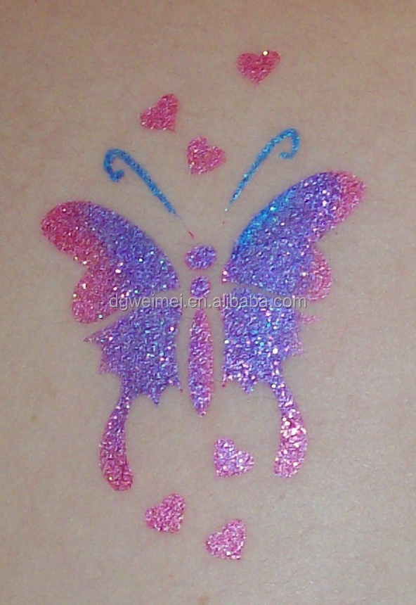 Hot-sales Eco-endly Glitter Temporary Body Tattoo