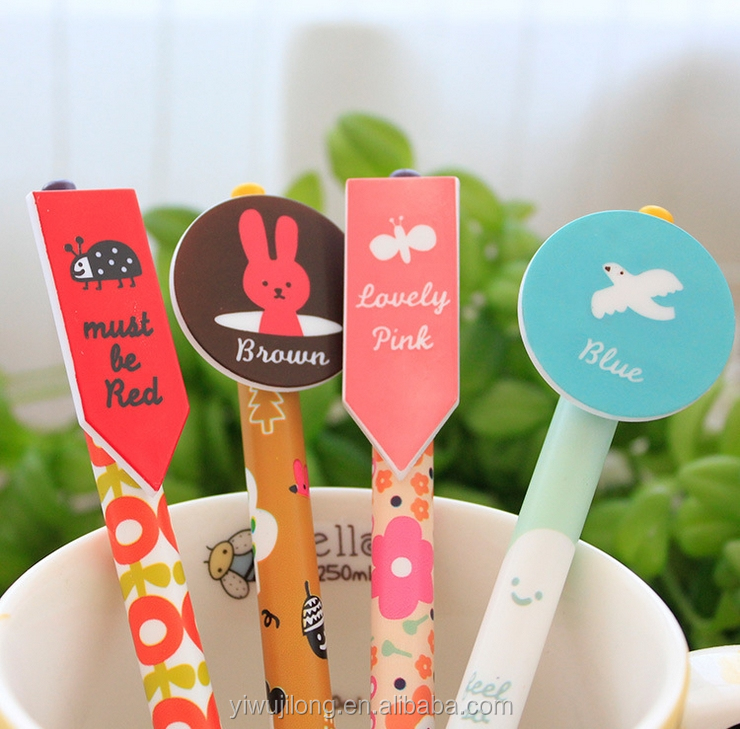 Cute cartoon push ball pen wholesale Souvenir gift