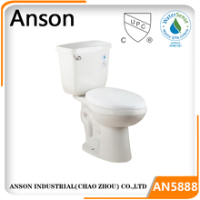 Bathroom commode siphonic toilet Elongated Bowl ADA height economic CUPC toilet
