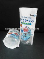 Stand up plastic food packaging bag for fish