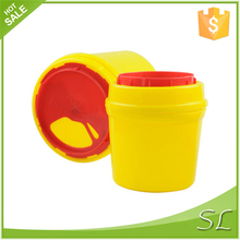 Round Leak Proof PP plastic medical containers for sharp