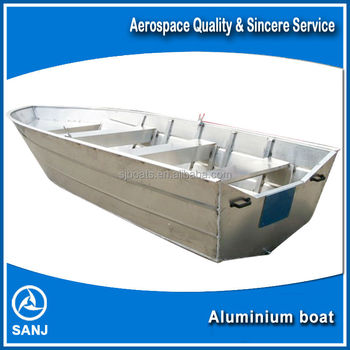 Sanj small lightweight aluminum fishing boat with outboard for Lightweight outboard motors for sale