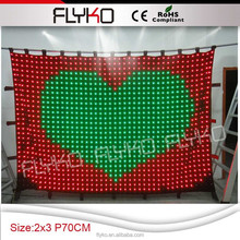 LED P7 Hgh definition led video curtain stage curtain
