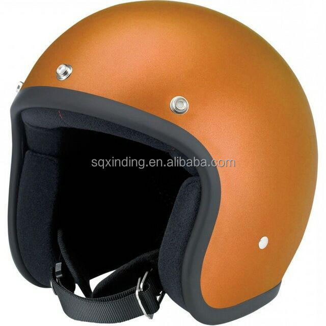 China Cross Motorcycle Helmets 3/4 Open Face DOT Golden