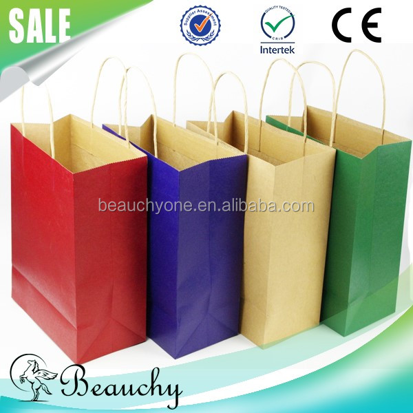 Beauchy 2016 With your own logo Promotional Gift paper purse gift bags