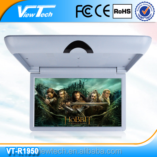19inch flip down LCD industrial screen monitor with VGA optional function for bus