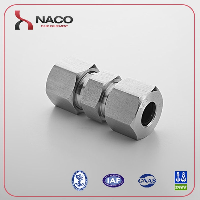 DIN2353 Straight Female Stainless Steel Tube Fitting,Hydraulic single ferrule Union fitting