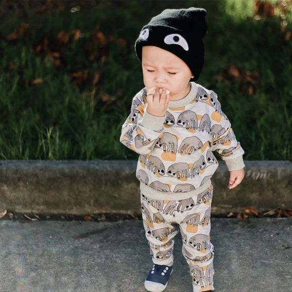 Fashion korean baby clothes 1 set leisure newborn boys clothing set