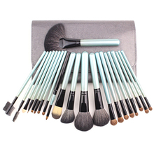 Mybasy OEM High End 22pcs Makeup Brushes Sets With Leather Bag