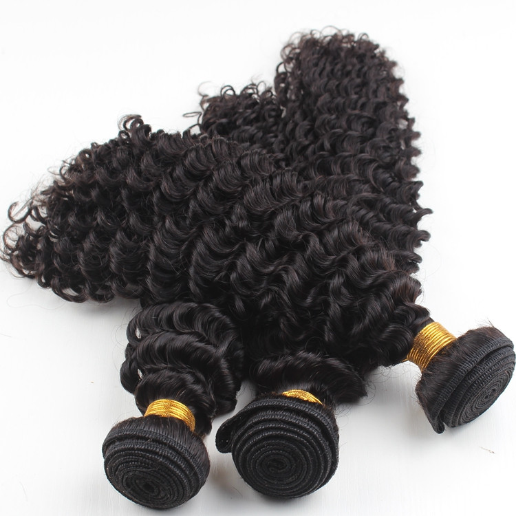 Easy to dye brazilian virgin hair different types of curly weave hair in stock