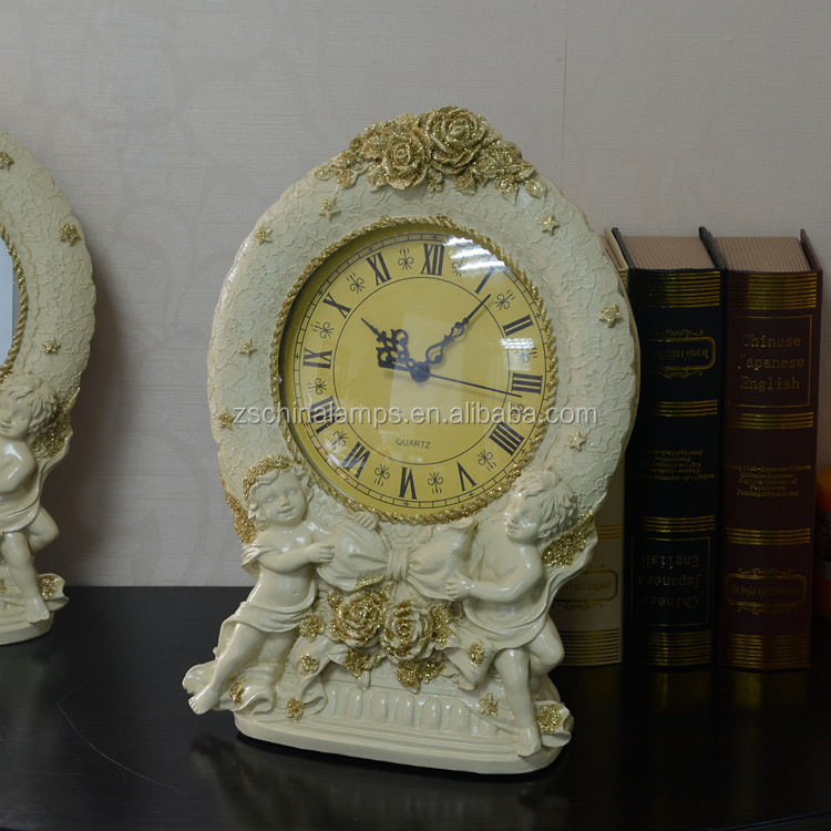 antique bedside white table clock best for hotel and holiday inn decor