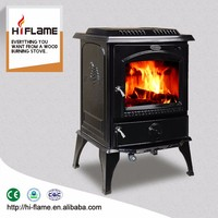 HiFlame Cast iron and enamel surface wood burning stove and fireplace HF717UE
