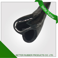 Manufactured extruded rubber seals strip with steel inserted