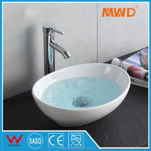 Factory price bathroom ceramics oval shaped wash basin small size hand basin