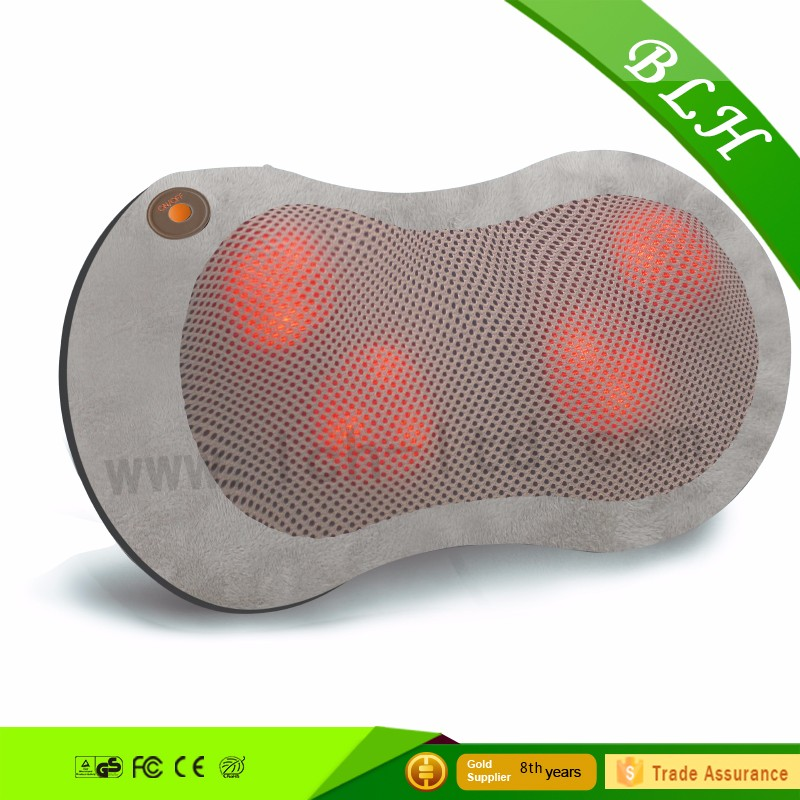 Shiatsu Massage Cushion - Infrared Heat and Rotating Massage for Neck Back Legs Arms - Great Gift - Use in Office Home&car use