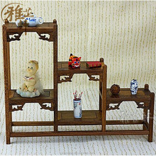 Yazhixuan New Design Hot Selling Antique and Petrified Wood Home Decoration Item of Display Shelf for Show Pieces