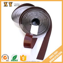 25mm width coffee strong sticky self- adhesive hook and loop fastener tape / hook and loop with back glue for bags/shoes