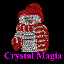2016 new custom snowman iron on patches wholesale holiday hotfix motif