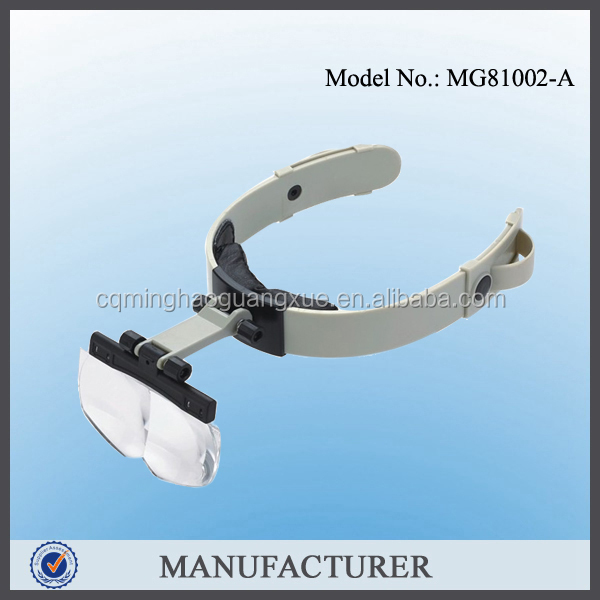 Minghao Optivisor Head Watch Repair Glasses Magnifying Eye Loupe