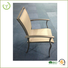 Stacking chair -Cheap aluminium stacking sling chair