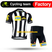 Nuckily New design lightweight and high breathable cycling clothing ss full length zip bike jersey set