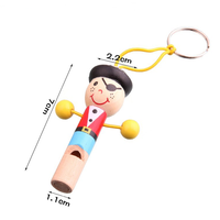 Wooden Cute Cartoon Animals/Pirates Whistle Ornament Hanging Wooden Children Playing Instrument