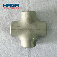 Stainless Steel Butt Welded Pipe Fittings Cross Tee