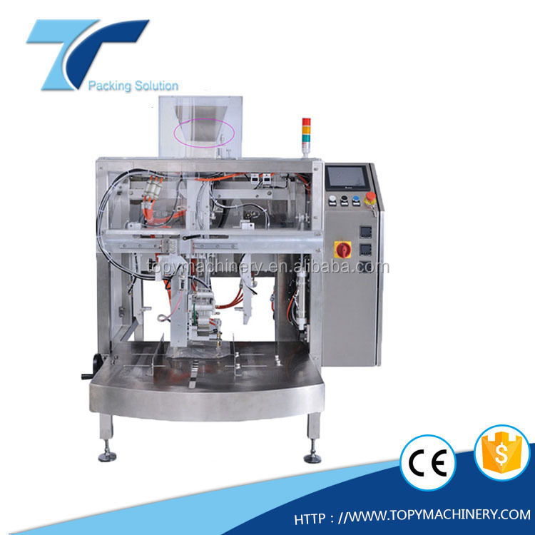 Automatic premade pouch vacuum filling and sealing packaging machine for 5kgs rice