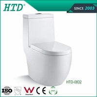 HTD-0832 Chinese Popular Bathroom Design One Piece Toilet