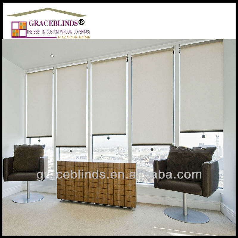 100% polyester Sunscreen fabric Spring operated roller blinds