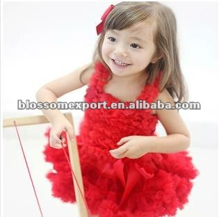 Kaiya skirt girls clothes set skirt chidlren red chiffon ruffle summer boutique kids skirt and top