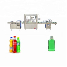 JB-YGX4 100ml 200ml liquid filler Automatic <strong>fruit</strong> juice plastic bottle filling and capping machine