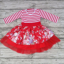 wholesale baby dress new style children boutique frock design girls puffy cotton dress of 10 years old girls