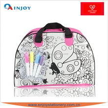 Kids education toy color your own hand bag with water pen
