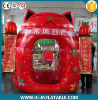customized new design inflatable fortune cat money machine,giant inflatable lucky cat